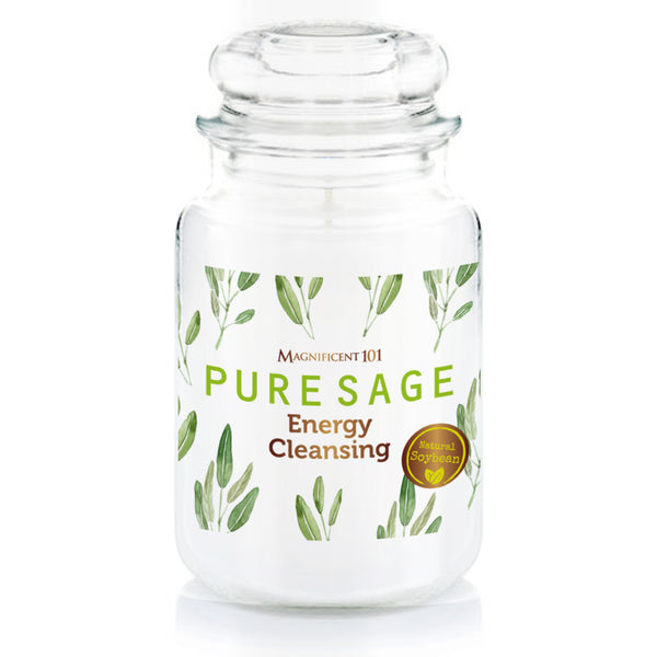 PURE SAGE Glass Jar Candle 14.5oz