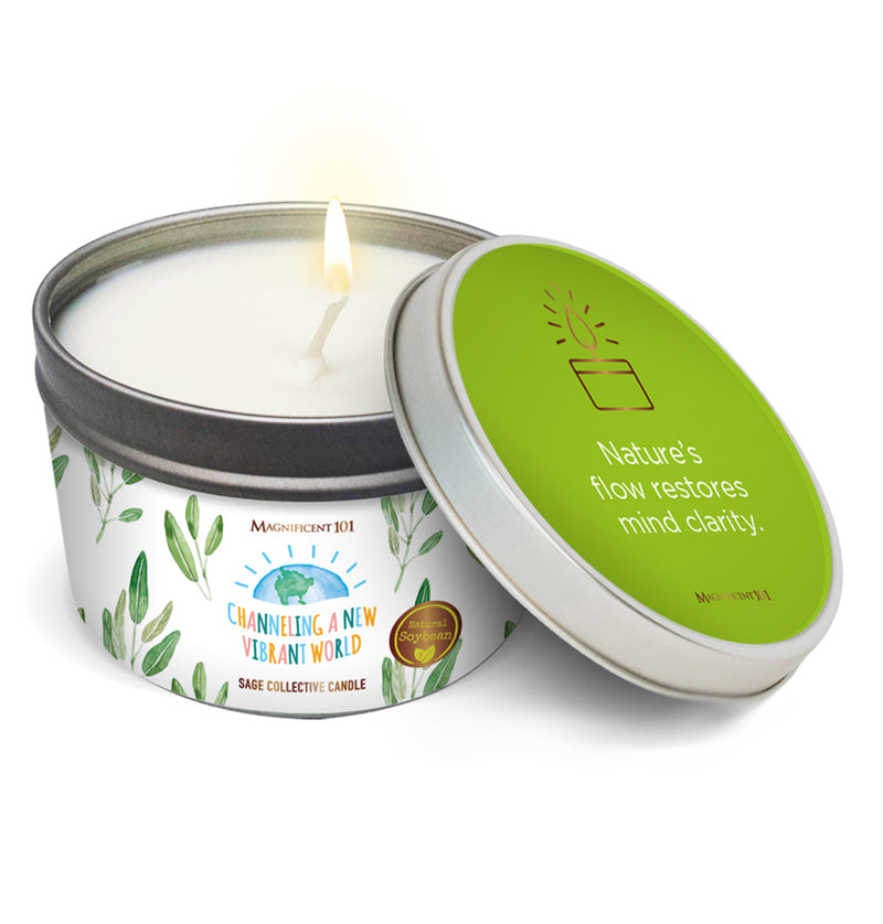 """CHANNELING A NEW, VIBRANT WORLD"" SAGE COLLECTIVE Candle"