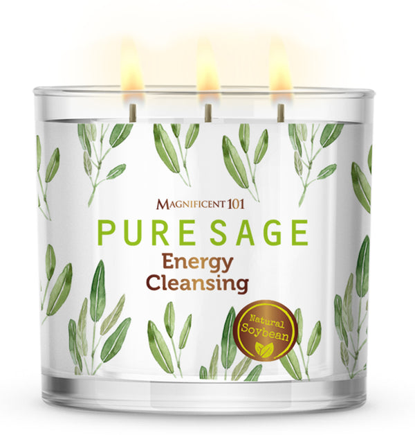 PURE SAGE Energy Cleansing Candle 14oz