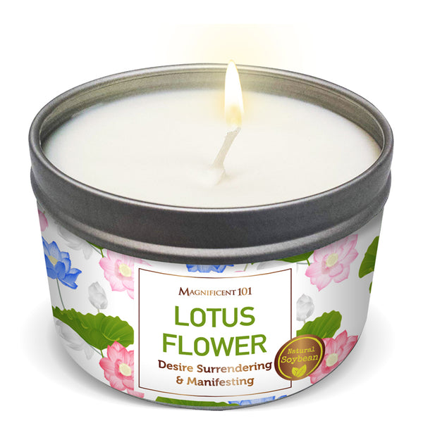 LOTUS FLOWER Desire Surrendering & Manifesting Candle
