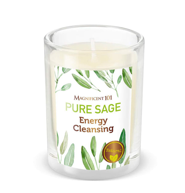 PURE SAGE - Smudge Candle for House Energy Cleansing