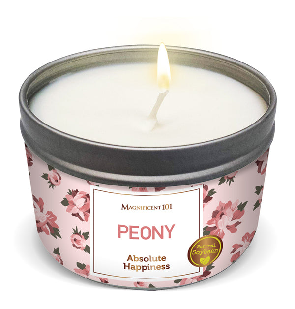 FLOWER INTENTION Peony Candle