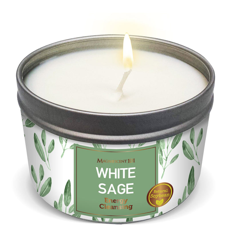 WHITE SAGE New Candle