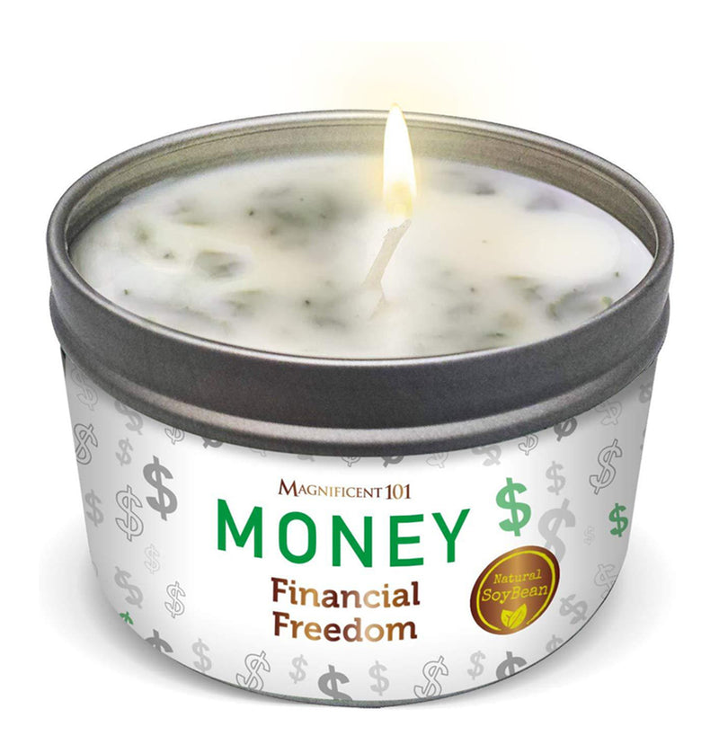 MONEY Financial Freedom Candle