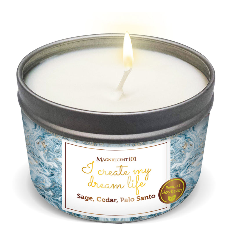 """I CREATE MY DREAM LIFE"" Affirmation Candle"