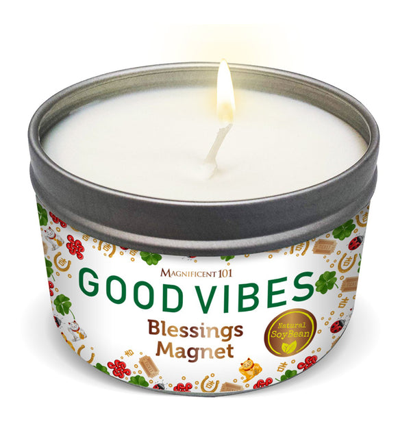 GOOD VIBES Blessings Magnet Candle