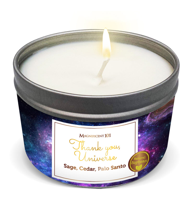 """THANK YOU, UNIVERSE"" Affirmation Candle"
