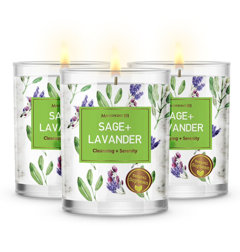 SAGE + LAVENDER Set of 3 Candles