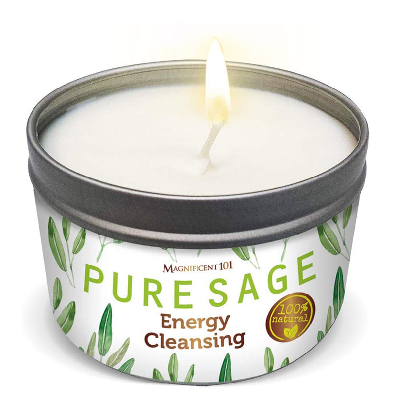 PURE SAGE Energy Cleansing Candle