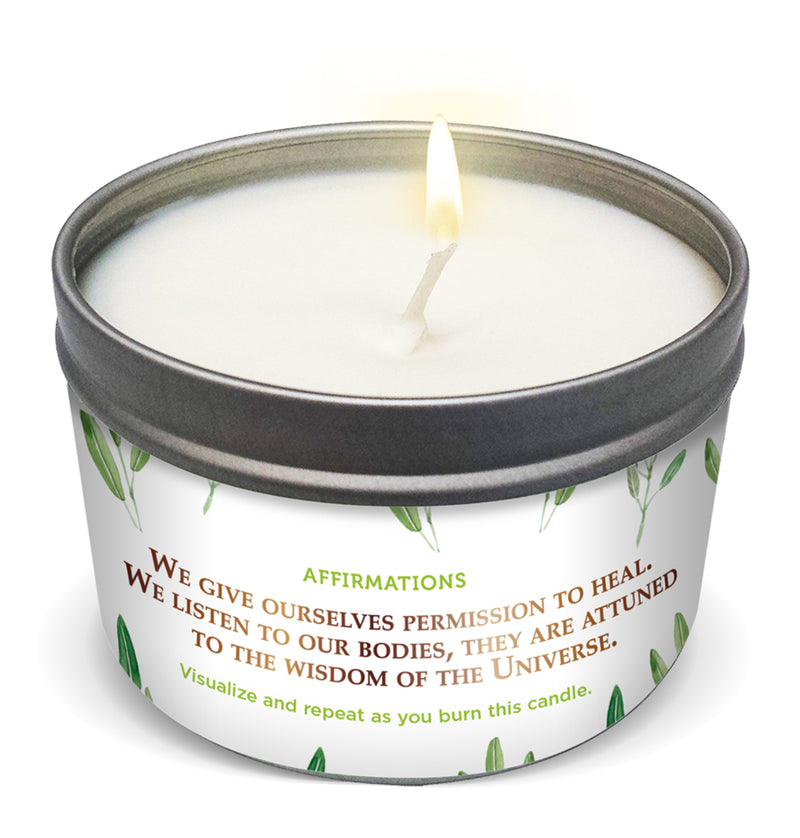 """HUMANITY HEALING WITH THE PLANET"" SAGE COLLECTIVE Candle"