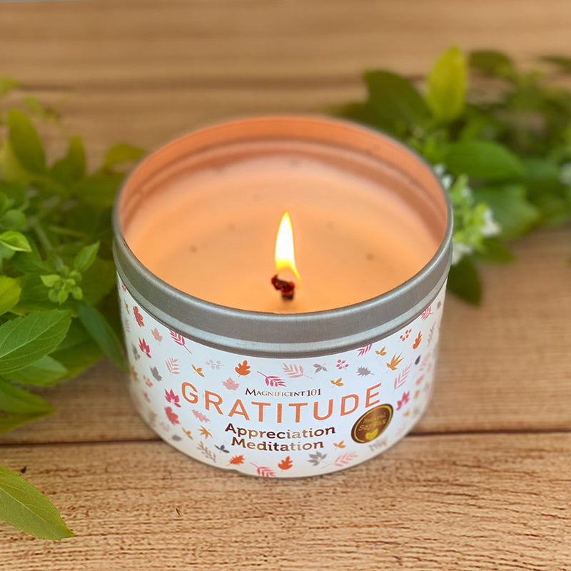 GRATITUDE Appreciation Meditation Candle