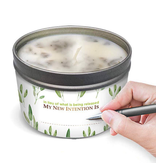 SAGE LEAF Energy Cleansing Candle