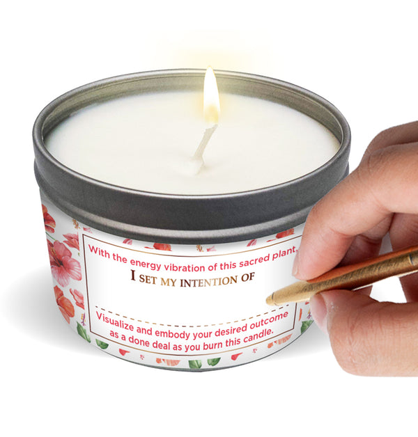 SACRED PLANTS Hibiscus Candle