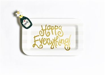 White Stripe Mini Happy Everything Rectangle Platter STORE PICKUP ONLY