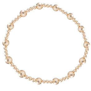 Classic Sincerity Pattern 5mm Bead Bracelet- Gold