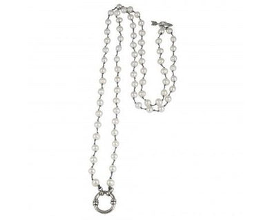 Boho Soul Pearl Necklace - Cream - 36""