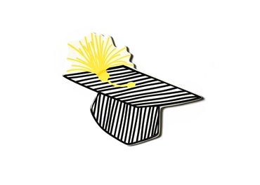 Striped Graduation Cap Big Attachment