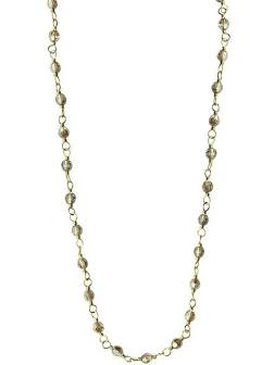 Juliet Chain - Brass with Pink Crystals - 20 Inch