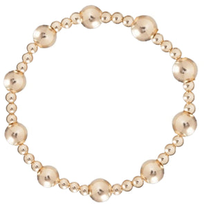 Classic Sincerity Pattern 6mm Bead Bracelet- Gold