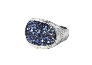 Kristal Stellarium Cocktail Ring - Moonlight - Sterling Silver & Swarovski Crystals