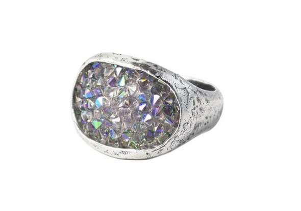 Kristal Stellarium Cocktail Ring - Paradise Shine - Sterling Silver & Swarovski Crystals