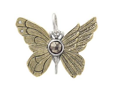 Ascension Butterfly Pendant- Pyrite