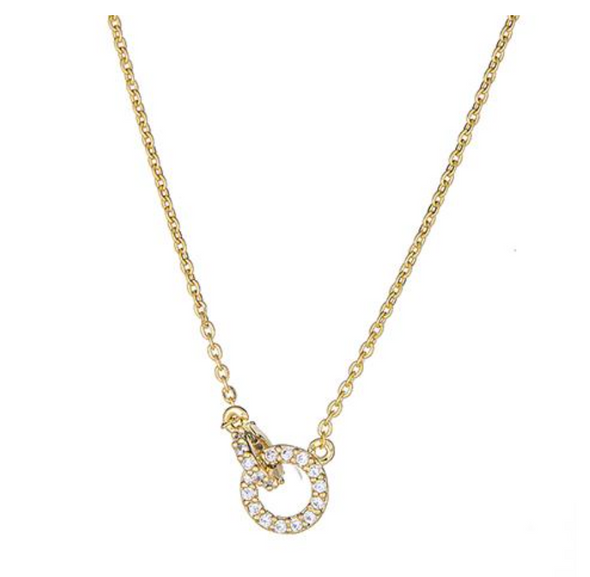 Linked Pave Rings Necklace