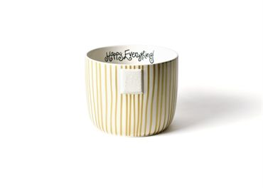 Gold Stripe Happy Everything Mini Bowl- STORE PICK UP ONLY