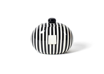 Black Stripe Mini Happy Everything Cookie Jar STORE PICK UP ONLY