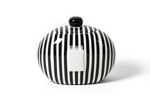 Black Stripe Big Happy Everything Cookie Jar STORE PICK UP ONLY