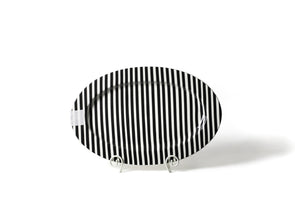 Black Stripe Happy Everything Big Entertaining Oval Platter STORE PICK UP ONLY