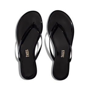 TKEES Glosses Flip Flop - Black Patent
