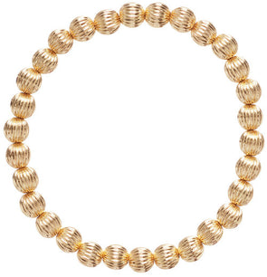 Dignity Gold Filled 6mm Bead Bracelet