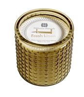 Fresh Linen 2 wick candle in decorative glass 15oz.