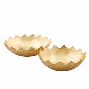 Large Gold Foil Bowl Set