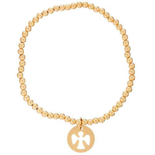 Guardian angel bracelet gold