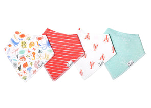 Bandana Bib Set of 4- Nautical