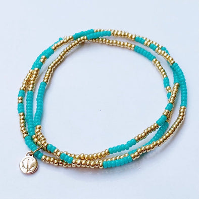 Caryn Lawn Boardwalk Bracelet Set- Turquoise