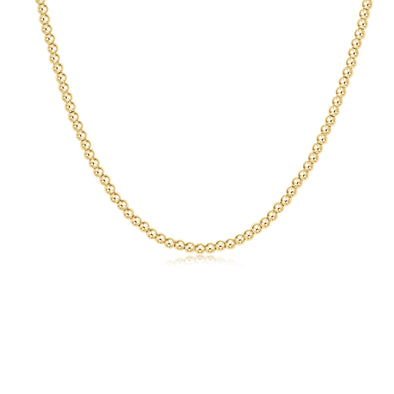 "Classic Choker 17"" Gold 3mm Bead"