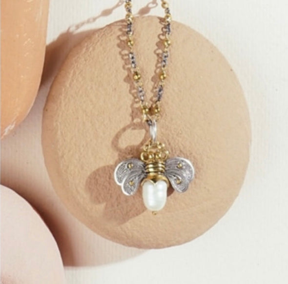 Bee Brave Honeypearl Charm - Pale Pearl