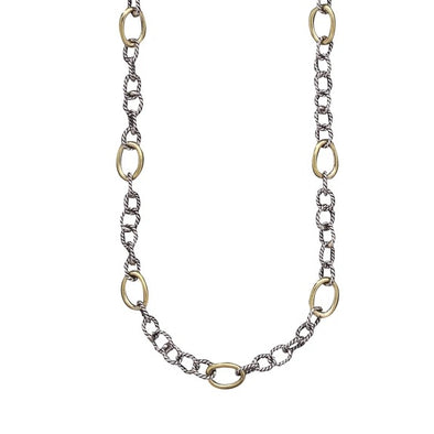 Twisted Link with Brass Rings Chain - 20 Inch