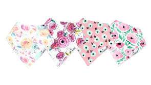 Bandana Bib Set of 4- Bloom