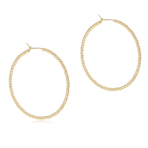 "Beaded gold 1.75"" hoop - 2mm Bead"