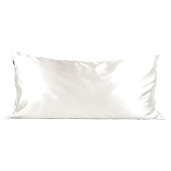 King Satin Pillowcase - Ivory