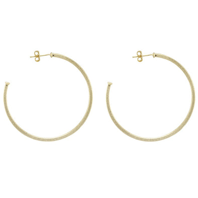 Sheila Fajl Perfect Hoop Earrings Size 1.75""