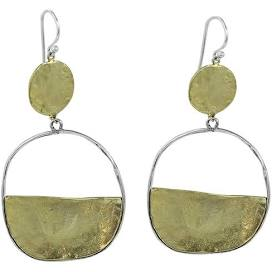 Vista Earrings- Brass