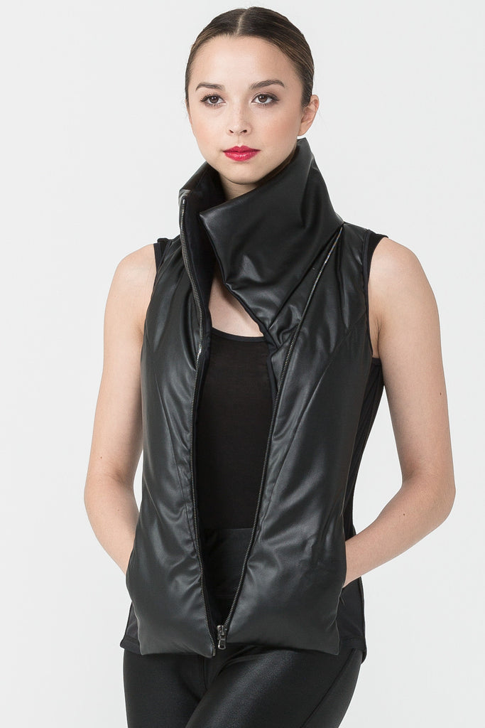 The Leather Odile Vest