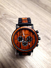 Load image into Gallery viewer, Mens wood watch. Wood and metal