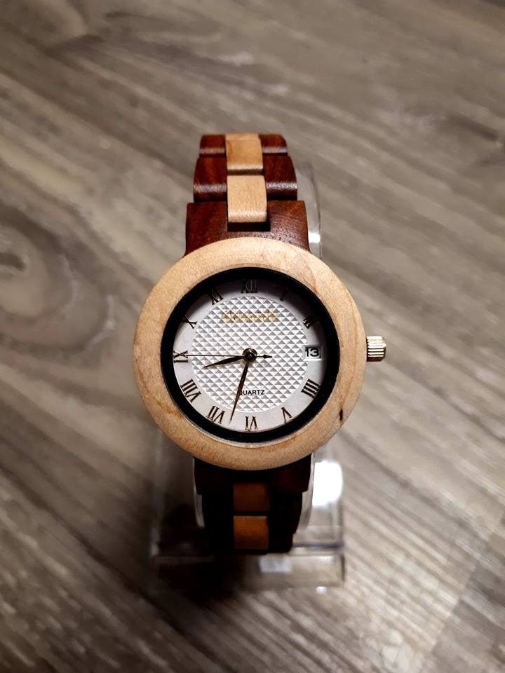 Womens wood watch.