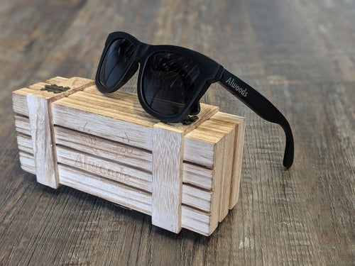 Black wood sunglasses